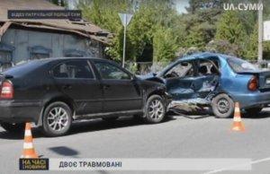 Два человека попали в больницу из-за ДТП в Сумах