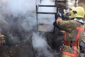 На выходных произошел пожар около универмага «Киев»