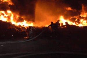 В Сумах произошел крупный пожар