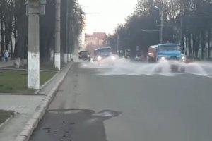 «Дорремстрой» рассказал,  какие улицы в Сумах продезинфицированы