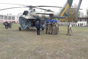 На Сумщину привезли тело курсанта,  погибшего в авиакатастрофе на Харьковщине