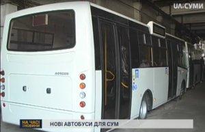 Новые автобусы приехали в Cумы