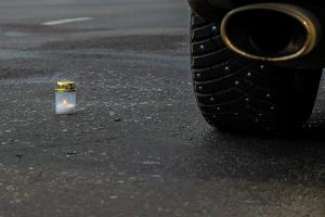 Патрульные полицейские совместно с автомобилистами почтили память жертв ДТП