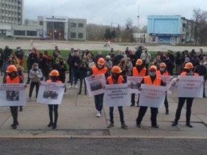 В Сумах под зданием ОГА уже два митинга
