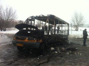 В Сумах сгоревший каркас маршрутки выиграл транспортный конкурс