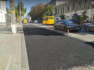 В центре Сум отремонтировали аварийный участок дороги