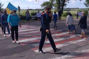 Жители Сумщины перекрыли трассу «Сумы-Киев»