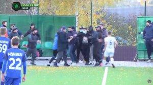 Фанаты ФК «Сумы» устроили драку на поле во время матча второй лиги