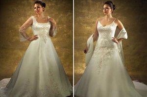 Платье на полную фигуру свадебное