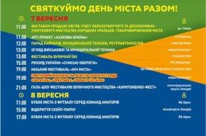 Программа основных мероприятий ко Дню города Сумы