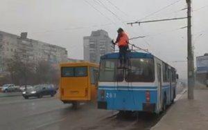 В Сумах все троллейбусы возвращаются в депо